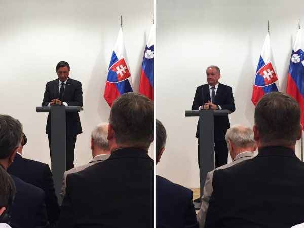 Slovenian president and Slovak president speak at a Business forum
